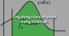 Bài 3: Ứng dụng của tích phân trong hình học