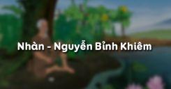 Soạn bài Nhàn của Nguyễn Bỉnh Khiêm - Ngữ văn 10