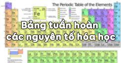 Bài 7: Bảng tuần hoàn các nguyên tố hóa học