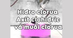 Bài 23 Hiđro clorua - Axit clohiđric và muối clorua