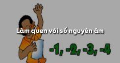 Bài 1: Làm quen với số nguyên âm