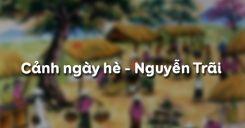 Cảnh ngày hè - Nguyễn Trãi