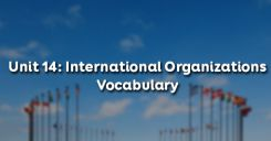 Unit 14: International Organizations - Vocabulary