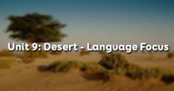 Unit 9: Desert - Language Focus