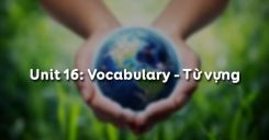 Unit 16: Vocabulary - Từ vựng