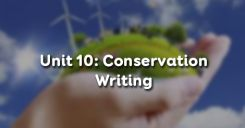 Unit 10: Conservation - Writing