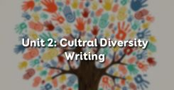 Unit 2: Cultural Diversity - Writing