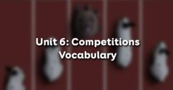 Unit 6: Competitions - Vocabulary
