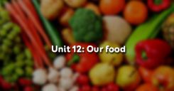 Unit 12: Our food