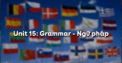 Unit 15: Grammar - Ngữ pháp