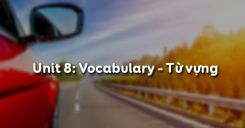 Unit 8: Vocabulary - Từ vựng