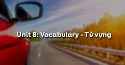 Unit 8: Vocabulary - Từ vựng