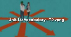 Unit 14: Vocabulary - Từ vựng
