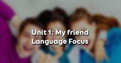 Unit 1: My friends - Language Focus