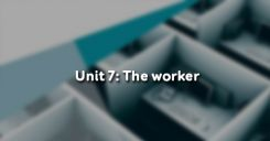 Unit 7: The worker