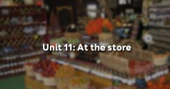 Unit 11: At the store