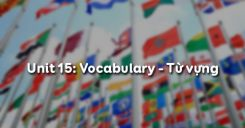 Unit 15: Vocabulary - Từ vựng