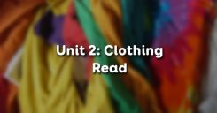 Unit 2: Clothing - Read