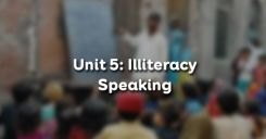 Unit 5: Illiteracy - Speaking