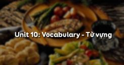 Unit 10: Vocabulary - Từ vựng