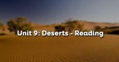 Unit 9: Deserts - Reading