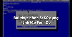 Bài thực hành 5: Sử dụng lệnh lặp For…Do