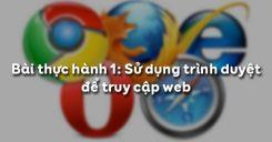 Bài thực hành 1: Sử dụng trình duyệt để truy cập web