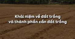 Bài 2: Khái niệm về đất trồng và thành phần cần đất trồng