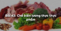 Bài 44: Chế biến lương thực thực phẩm