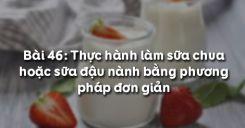 Bài 47: Thực hành làm sữa chua hoặc sữa đậu nành bằng phương pháp đơn giản
