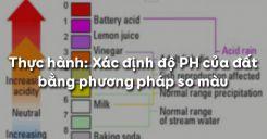 Bài 5: Thực hành: Xác định độ PH của đất bằng phương pháp so màu