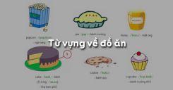 Từ vựng về đồ ăn trong tiếng Anh