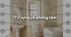 Từ vựng về phòng tắm trong tiếng Anh