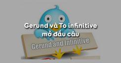 Gerund và To infinitive mở đầu câu trong tiếng Anh