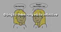 Danh động từ và động từ nguyên mẫu trong tiếng Anh