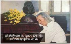 Chính tả Nghe - viết: Người sáng tạo Quốc ca Việt Nam