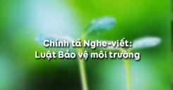 Chính tả Nghe-viết: Luật Bảo vệ môi trường
