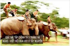 Chính tả Nghe - viết: Hội đua voi ở Tây Nguyên