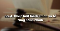 Bài 4: Pháp luật tố tụng dân sự (Các thủ tục tố tụng)