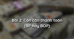 Bài 2: Cán cân thanh toán (BP hay BOP)