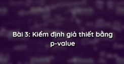 Bài 3: Kiểm định giả thiết bằng p-value