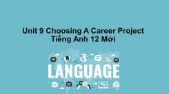Unit 9: Choosing A Career - Project