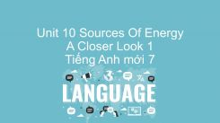 Unit 10: Sources Of Energy - A Closer Look 1