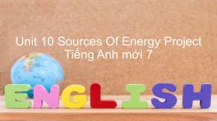 Unit 10: Sources Of Energy - Project