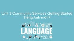 Unit 3: Community Services - Getting Started