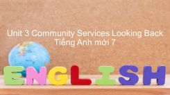 Unit 3: Community Services - Looking Back