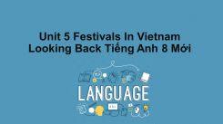Unit 5: Festivals In Vietnam - Looking Back