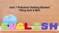 Unit 7: Pollution - Getting Started