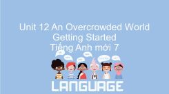 Unit 12: An Overcrowded World - Getting Started