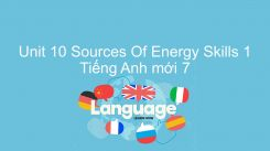 Unit 10: Sources Of Energy - Skills 1
